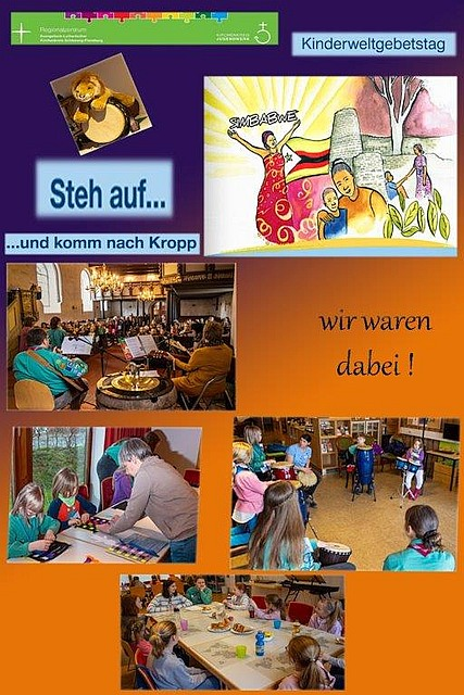Fotocollage - Kinderweltgebetstag in Kropp 2020