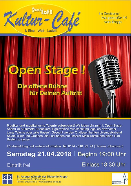 Plakat - Open Stage im Kultur-Cafe